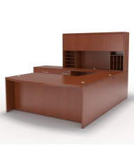 Mayline Aberdeen AT10 U-Shaped Office Desk Set (Shown in Cherry)