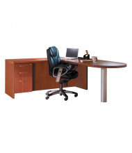 Mayline Aberdeen AT11 L-Shaped Peninsula Executive Office Desk with Pedestal (Shown in Cherry)