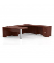 Mayline Aberdeen AT13 U-Shaped Peninsula Executive Office Desk with Pedestal (Shown in Cherry)