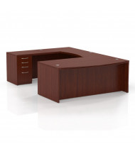 Mayline Aberdeen AT3 U-Shaped Executive Office Desk with Pedestals (Shown in Cherry)