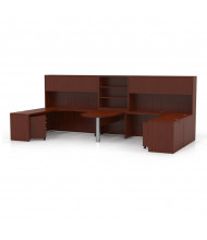 Mayline Aberdeen AT17 2-Unit Executive Office Desk Set (Shown in Cherry)