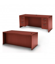 Mayline Aberdeen AT1 Office Desk Set (Shown in Cherry)