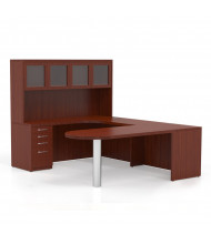 Mayline Aberdeen AT20 U-Shaped Executive Office Desk Set (cherry)