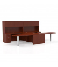 Mayline Aberdeen AT21 2-Unit Executive Office Desk Set (Shown in Cherry)