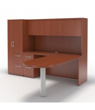 Mayline Aberdeen AT22 L-Shaped Executive Office Desk Set (Shown in Cherry)