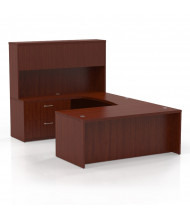Mayline Aberdeen AT2 U-Shaped Executive Office Desk Set (Shown in Cherry)