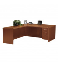 Mayline Aberdeen AT31 L-Shaped Executive Office Desk with Pedestal (Shown in Cherry)