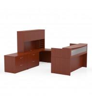 Mayline Aberdeen AT38 Reception Desk Set (Shown in Cherry)
