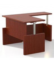 "Mayline Aberdeen 66"" W Electric L-Shaped Straight Front Height Adjustable Desk  (Shown in Cherry)"