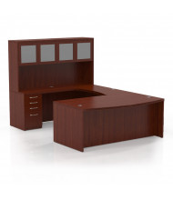 Mayline Aberdeen AT5 U-Shaped Executive Office Desk Set (Shown in Cherry)