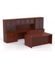 Mayline Aberdeen AT7 Office Desk Set (Shown in Cherry)