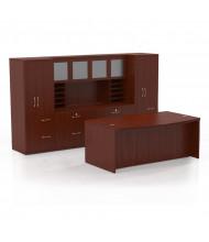 Mayline Aberdeen AT9 Office Desk Set (Shown in Cherry)