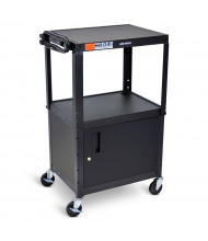 Luxor 2-Shelf Height Adjustable AV Cart (Shown in Black)