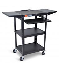 Luxor 5-Shelf Height Adjustable Presentation AV Cart (Shown in Black)