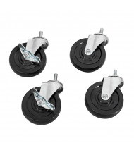 "Akro-Mils 5"" Swivel Casters, Set of 4"
