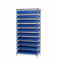 "kro-Mils 14"" D Wire Shelving Unit with AkroBins (8-5/8"" D x 33"" W x 5"" H) model shown"