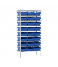 """Akro-Mils 18"""" D Wire Shelving Unit with ShelfMax Bins"""