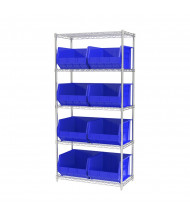 "Akro-Mils 18"" D Wire Shelving Unit with AkroBins (18"" D x 16-1/2"" W x 11"" H model shown)"