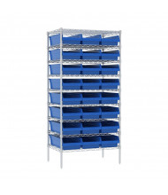 "Akro-Mils 24"" D Wire Shelving Unit with ShelfMax Bins"
