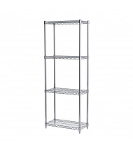 "Akro-Mils 63"" H 4-Shelf Wire Shelving Starter Unit (12"" D x 24"" W)"