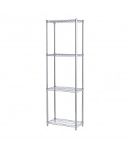 "Akro-Mils 74"" H 4-Shelf Wire Shelving Starter Unit (12"" D x 24"" W)"