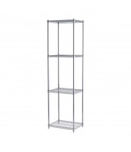 "Akro-Mils 86"" H 4-Shelf Wire Shelving Starter Unit (18"" D x 24"" W)"