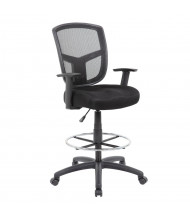 Boss B16021 Adjustable Arms Mesh Drafting Stool, Footring