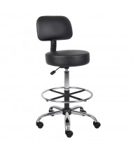 Boss B16245 Caressoft Medical Doctors Stool, Footring (Shown in Black)