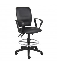 Boss B1647 Multifunction Loop Arms LeatherPlus Drafting Stool, Footring