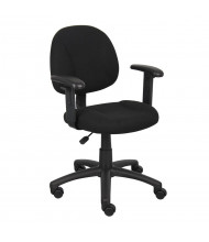 Boss B316 Deluxe Fabric Mid-Back Posture Task Chair (Shown in Black)