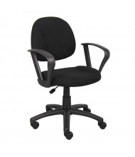 Boss B317 Deluxe Fabric Mid-Back Posture Chair (Shown in Black)