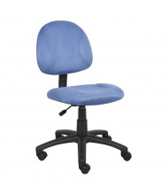 Boss B325 Deluxe Microfiber Mid-Back Posture Chair (Shown in Blue)