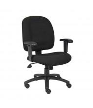 Boss B495-BK Ergonomic Chenille Fabric Mid-Back Task Chair