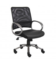Boss B6406-BK Professional Mesh-Back LeatherPlus Managers Chair