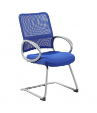 Boss B6419 Mesh-Back Fabric Guest Chair (Shown in Blue)