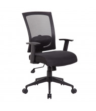 Boss B6706 Mesh-Back Fabric Mid-Back Task Chair (Shown in Black)