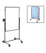 "Best-Rite B795AC-HV Modifier XV Dura-Rite / Vinyl 28"" x 41"" Adjustable Height Mobile Easel (Both Sides Shown)"