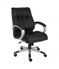 Boss B8776 Double Plush LeatherPlus Mid-Back Executive Office Chair (Shown in Black)