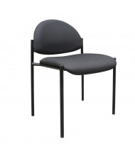 Boss B9505 Contemporary Stacking Armless Guest Chair (Shown in Black)