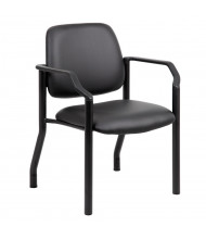 Boss B9591AM-BK Big & Tall 300 Lb. Antimicrobial Vinyl Mid-Back Guest Chair