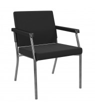 Office Star Bariatric 300 lb Big & Tall Guest Chair (Shown in Black)
