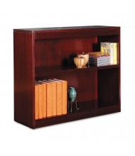 Alera BCS23036MY 2-Shelf Veneer Square Corner Bookcase in Mahogany Finish