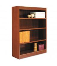 Alera BCS44836 4-Shelf Veneer Square Corner Bookcase (Shown in Medium Cherry)