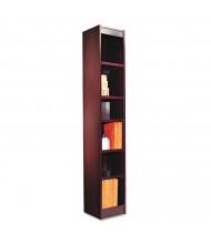 Alera BCS67212MY 6-Shelf Narrow Profile Bookcase in Mahogany Finish