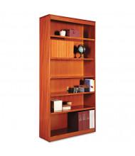 Alera BCS67236MC 6-Shelf Veneer Square Corner Bookcase in Medium Cherry Finish