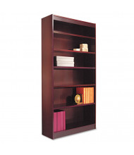 Alera BCS67236MY 6-Shelf Veneer Square Corner Bookcase in Mahogany Finish