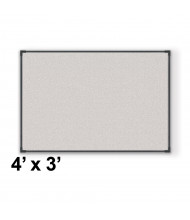 Best-Rite Pebbles Vinyl 4' x 3' Black Ultra Trim Bulletin Board