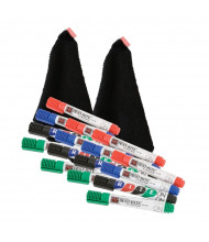 Best-Rite 564 Rite-On Deluxe Dry Erase Marker & Cloth Whiteboard Accessory Kit