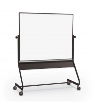 Best-Rite Euro Porcelain Steel 6' x 4' Aluminum Trim Reversible Mobile Whiteboard
