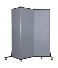 ScreenFlex 6 ft 5 in H x 5 ft 9 in 3-Panel Light Duty Room Divider BFSL683 (Shown in Blue Mist)